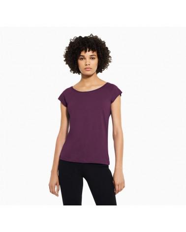 T-shirt donna in bambù e cotone biologico, Viola.