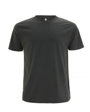 T-shirt uomo antracite in cotone biologico. Prodotto ecologico