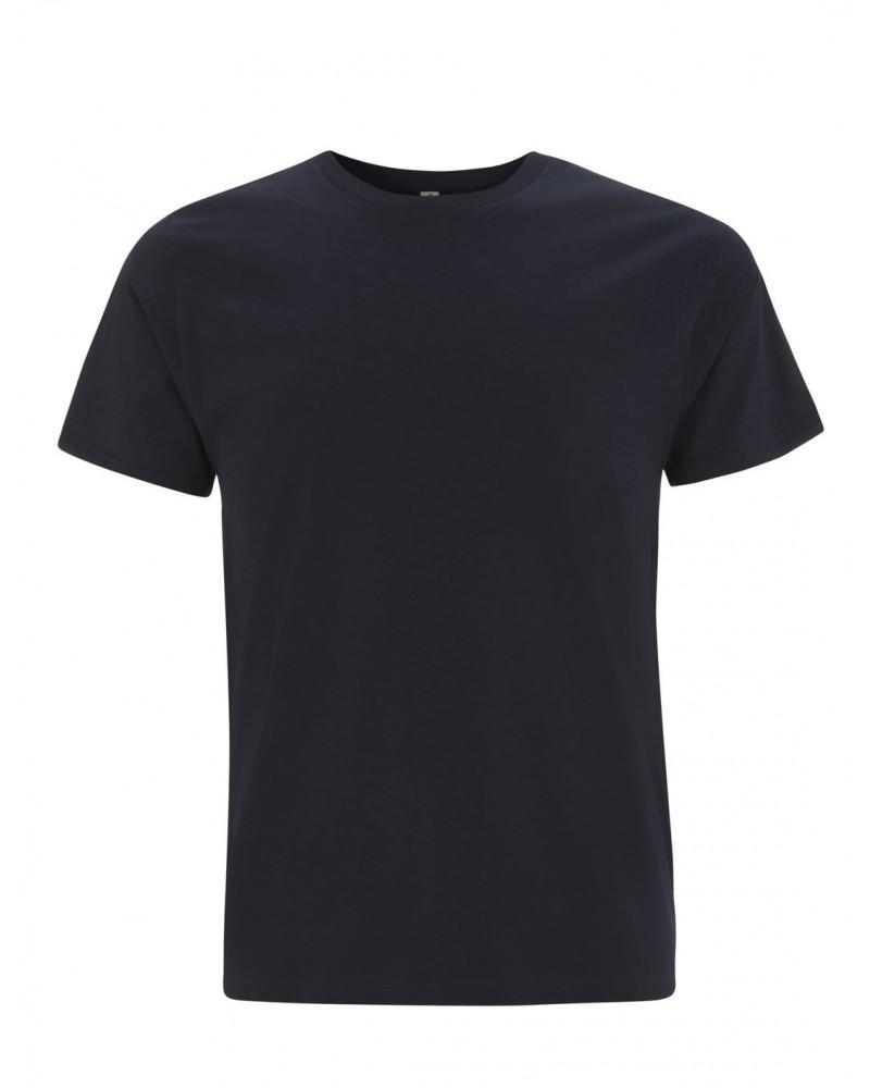 T-shirt uomo blu scuro in cotone biologico. Prodotto ecologico