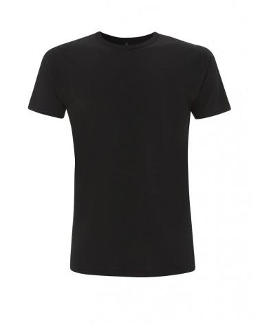 T-shirt uomo nera in bambù e cotone bio. Prodotto ecologico.