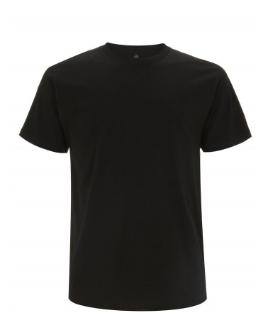 T-shirt uomo nera in cotone biologico. Prodotto ecologico