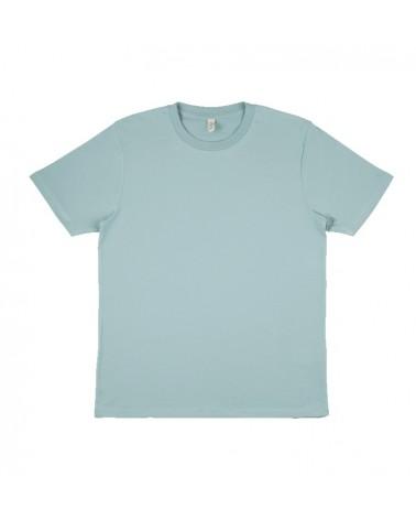 T-shirt uomo verde ardesia in cotone biologico. Prodotto ecologico