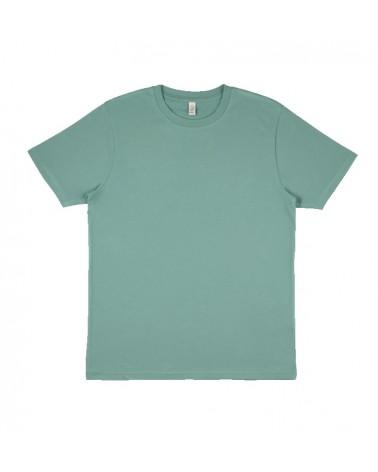 T-shirt uomo verde salvia in cotone biologico. Prodotto ecologico