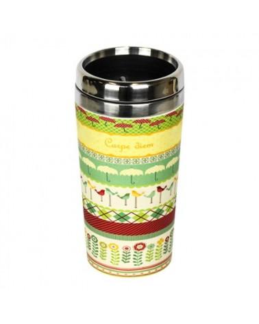 Tazza termica in bambu organico e acciaio inossidabile Carpe Diem.