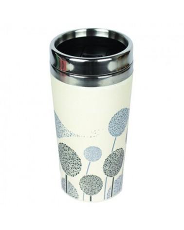 Tazza termica in bambù organico e acciaio inossidabile Dandelions.