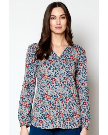 Camicia in cotone biologico floreale.