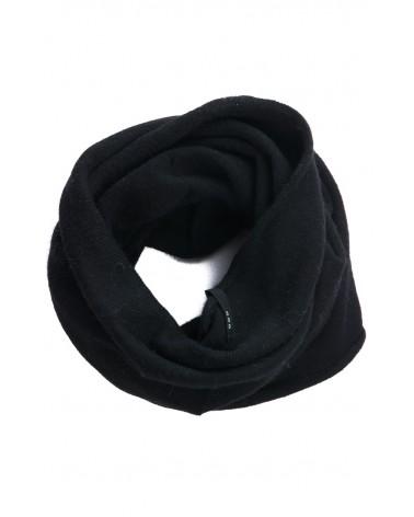 Scaldacollo in cotone rigenerato, nero.
