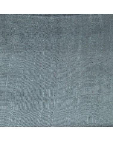 Sciarpa grigioverde in seta e lino tinture ecologiche. Filo fine.