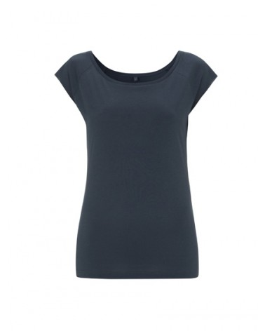 T-shirt donna in bambù e cotone biologico Blu denim