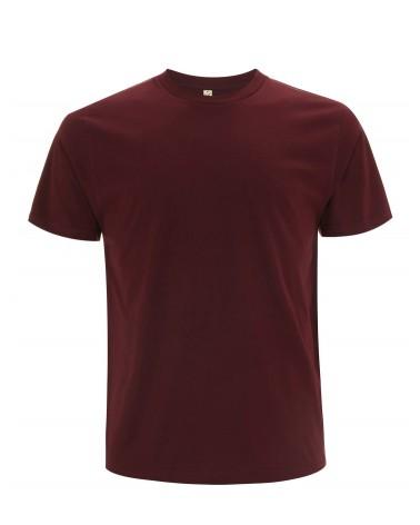 T-shirt uomo amaranto in cotone biologico. Prodotto ecologico