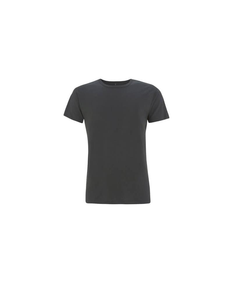 T-shirt uomo antracite in bambù e cotone bio. Prodotto ecologico.