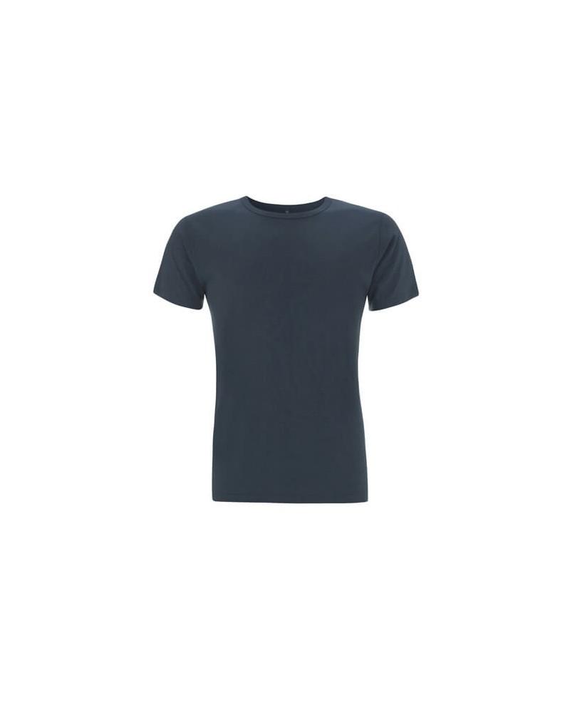 T-shirt uomo blu denim in bambù e cotone bio. Prodotto ecologici.