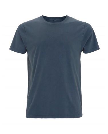 T-shirt uomo denim slavato in cotone biologico. Prodotto ecologico