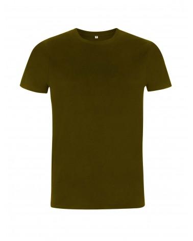 T-shirt uomo khaki in cotone biologico. Prodotto ecologico