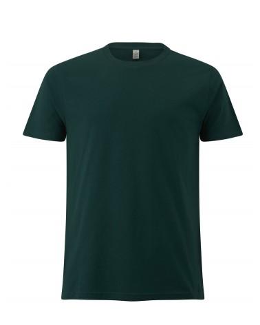 T-shirt uomo verde bottiglia in cotone biologico. Prodotto ecologico