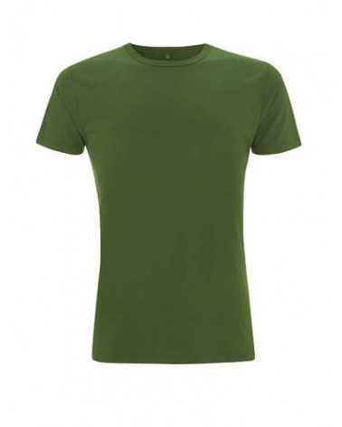T-shirt uomo verde in bambù e cotone bio. Prodotto ecologici.