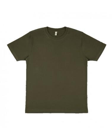 T-shirt uomo verde muschio in cotone biologico. Prodotto ecologico
