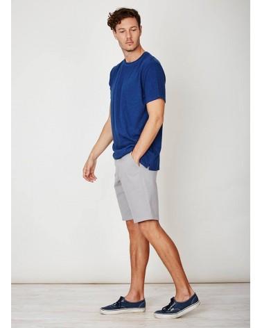 T-shirt blu uomo in canapa Branitree