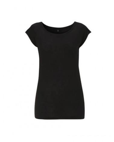 T-shirt donna in bambù nero