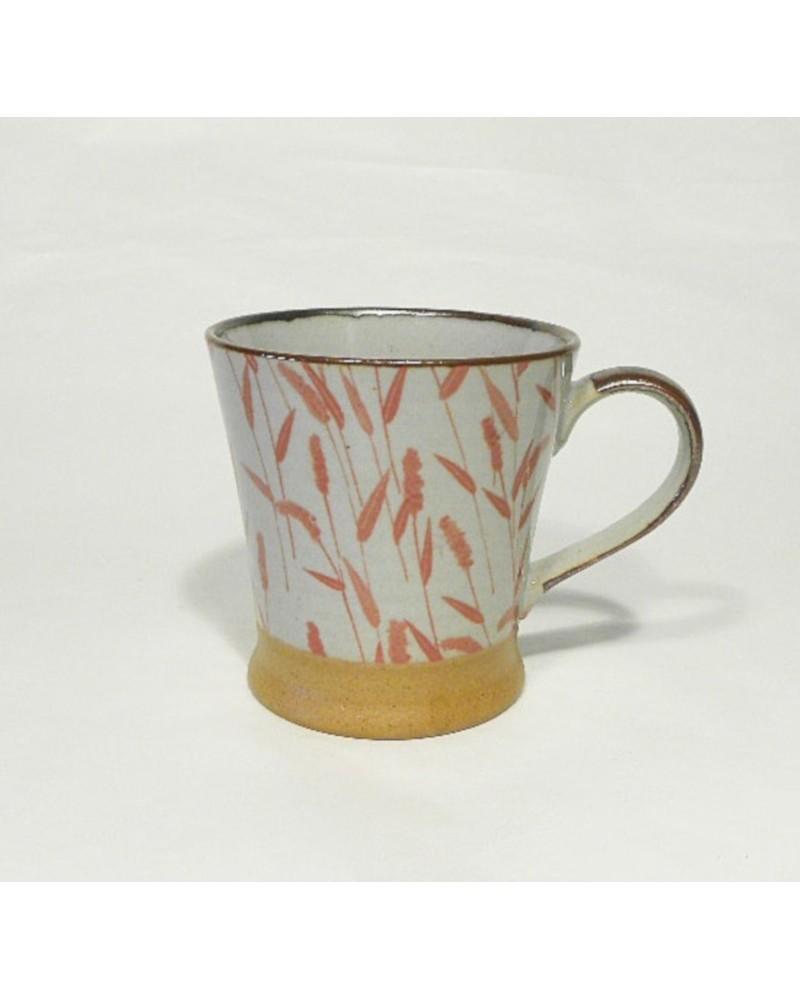 Mug in ceramica giapponese, piante. Made in Japan