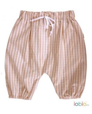 Pantalone estivo bambina in cotone bio. 6-24 mesi
