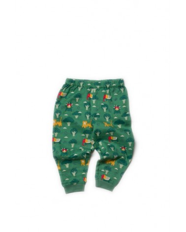 Pantaloni in leggero cotone biologico equosolidale. Jungle