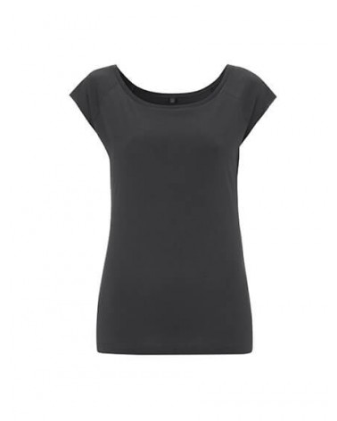 T-shirt donna in bambù e cotone biologico Antracite