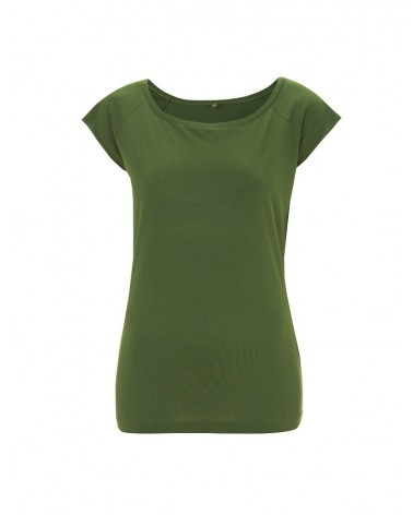 T-shirt donna in bambù e cotone biologico Verde