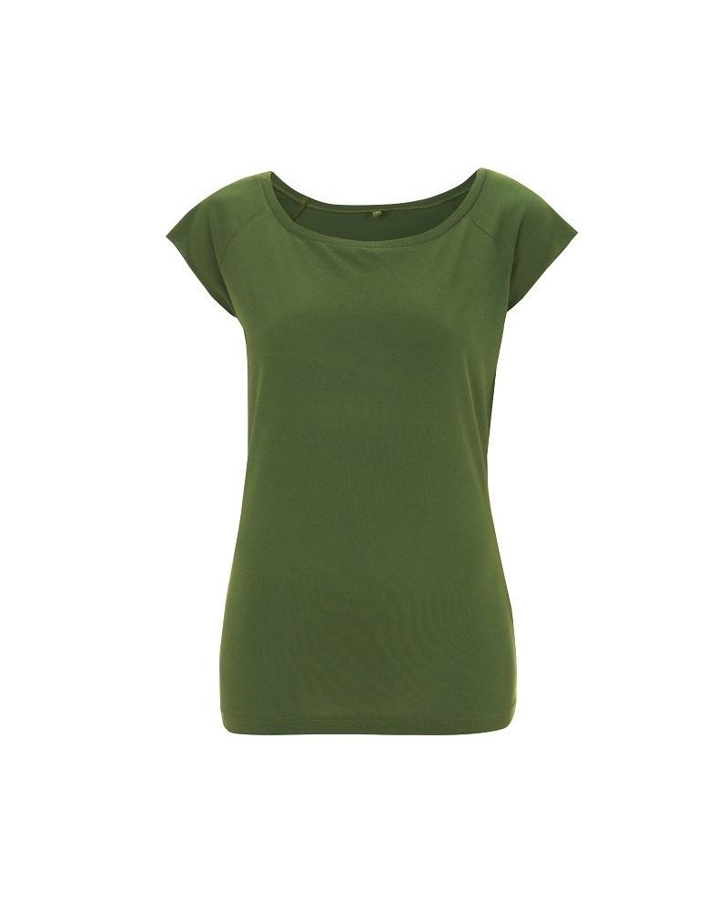 T-shirt donna in bambù e cotone biologico Verde