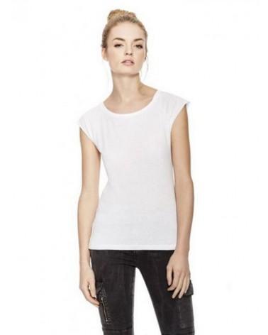 T-shirt donna in bambù e cotone biologico, Bianca.