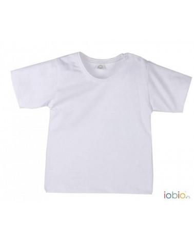 T-shirt neonato bianca in cotone bio IOBIO