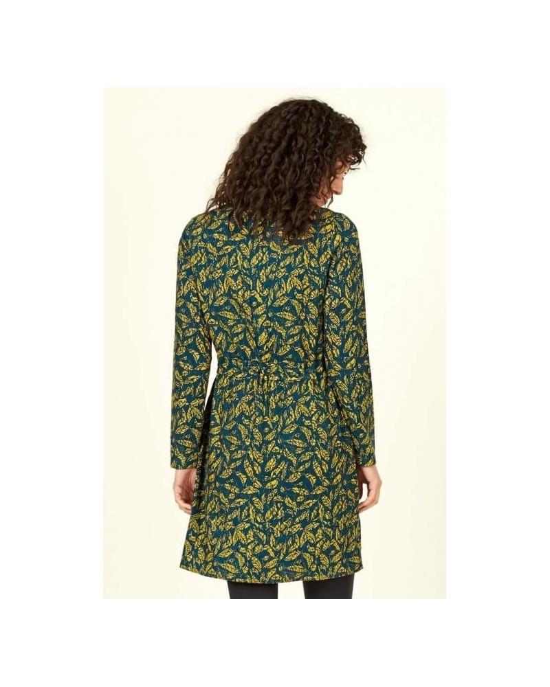 Vestito verde petrolio in fantasia, Nomads.