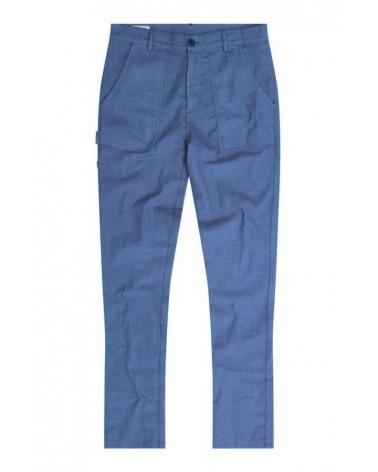 Pantalone blu uomo misto lino biologico. Komodo