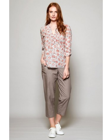 Camicia donna in cotone floreale, Nomads.