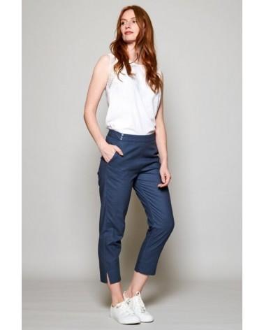 Pantaloni blu ¾ donna in cotone, Nomads.