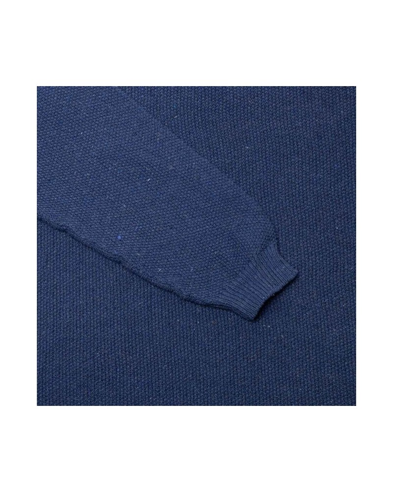 Maglioncino in cotone rigenerato colore denim scuro TAGLIA L