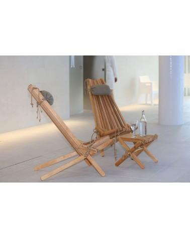 Tavolino o sgabello naturale in legno di betulla e canapa.