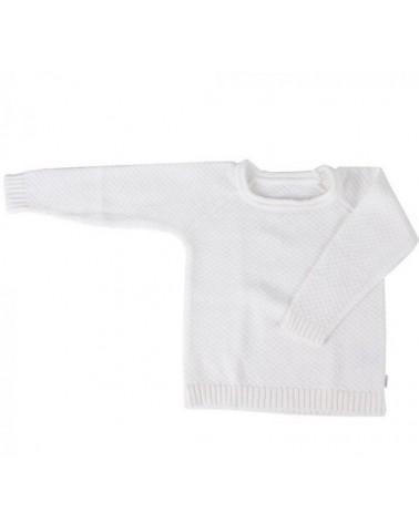 Maglioncino per bambina bianco in cotone biologico 3-4 anni