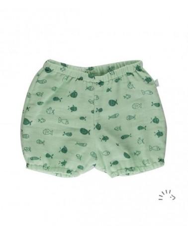 Pantaloncino con pesciolini per neonato 0-3 mesi