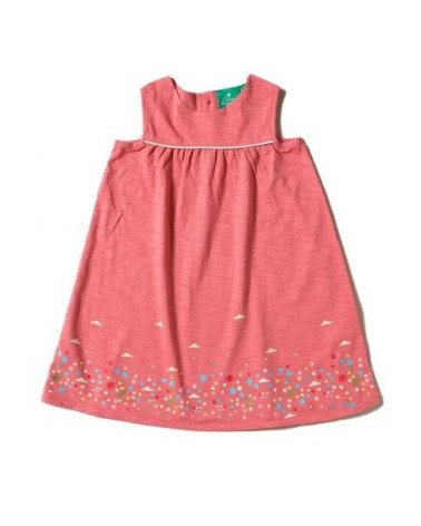 Vestito bambina rosa antico in cotone biologico. Equosolidale