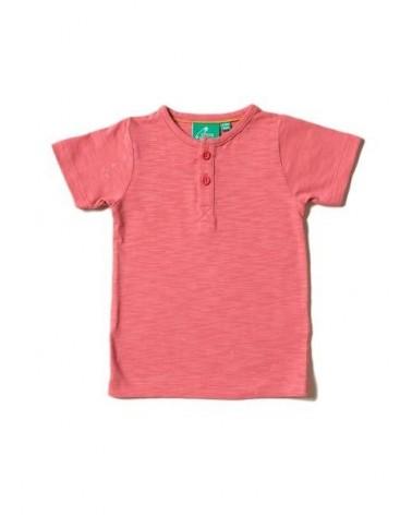 T-shirt rosa antico in cotone biologico girocollo.