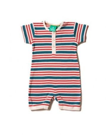 Pagliacetto in cotone bio per neonato a righe.