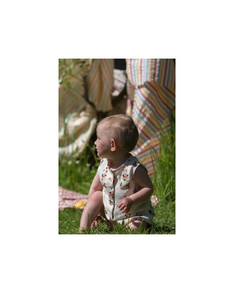 Body neonato in cotone biologico, barchette.