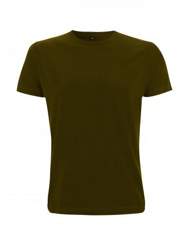 T-shirt uomo khaki in cotone. Prodotto ecologico