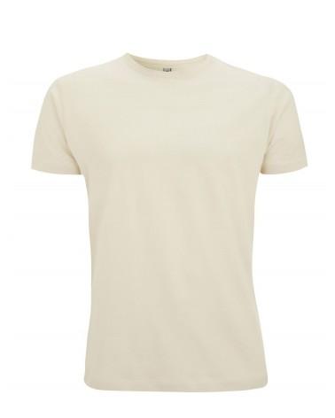 T-shirt uomo sabbia in cotone. Prodotto ecologico