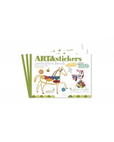 Quaderno ART&Stickers Londji. Prodott ECOlogico