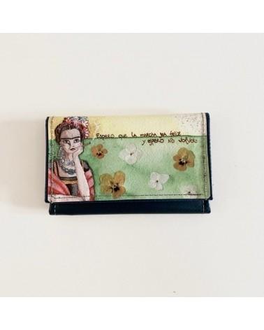Portafogli donna ecologico in pvc riciclato Frida Kahlo.