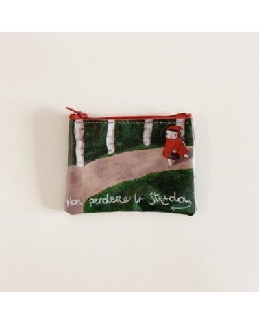 Portamonete ecologico riciclato Cappuccetto Rosso