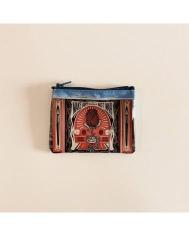 Portamonete ecologico riciclato Make art.