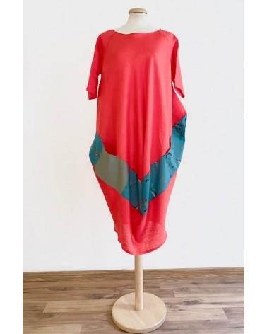 Abito sartoriale in lino e cotone made in Italy. Rosso